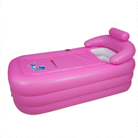 Hot sale high quality plastic folding portable adult inflatable air bathtub