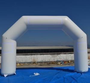 H1098 Inflatable Running Arch with LOGO print,Top quality sealed inflatable Gate/Finish line/Start line with hanging banner