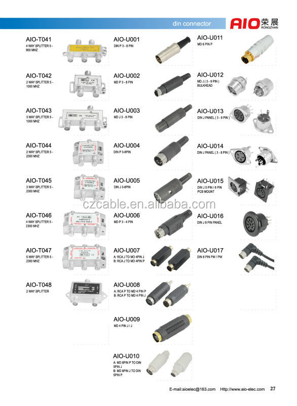 gray 5 pin din male plug to 6 pin mini din s