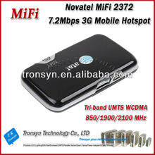 Original Unlock 7.2Mbps AT&T Novatel Wireless 2372 Portable 3G WiFi Router And 3G Mobile WiFi Hotspot