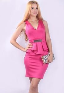 dd6a8d2325df7 New arrival Peplum Dress elegant ladies office wear dress