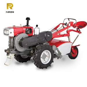 Farm electric water cooled changchai two wheel walking behind mini tractor for sell