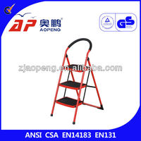 Matel 3-Tier Step Ladder with Wide Step