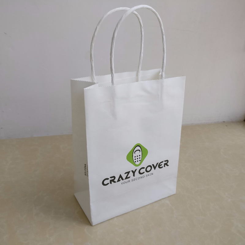 Eco-Friendly Ink Printed Kraft Shopping Bags for boutique