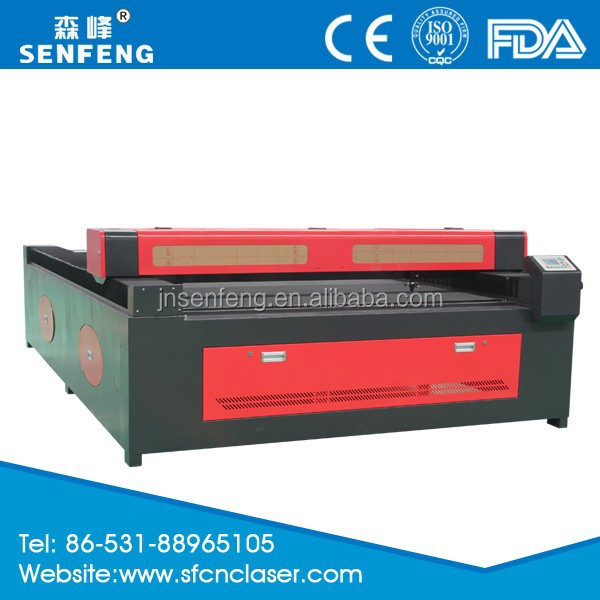 SF1326 CO2 130W laser cutting MDF machine price in Jinan senfeng factory