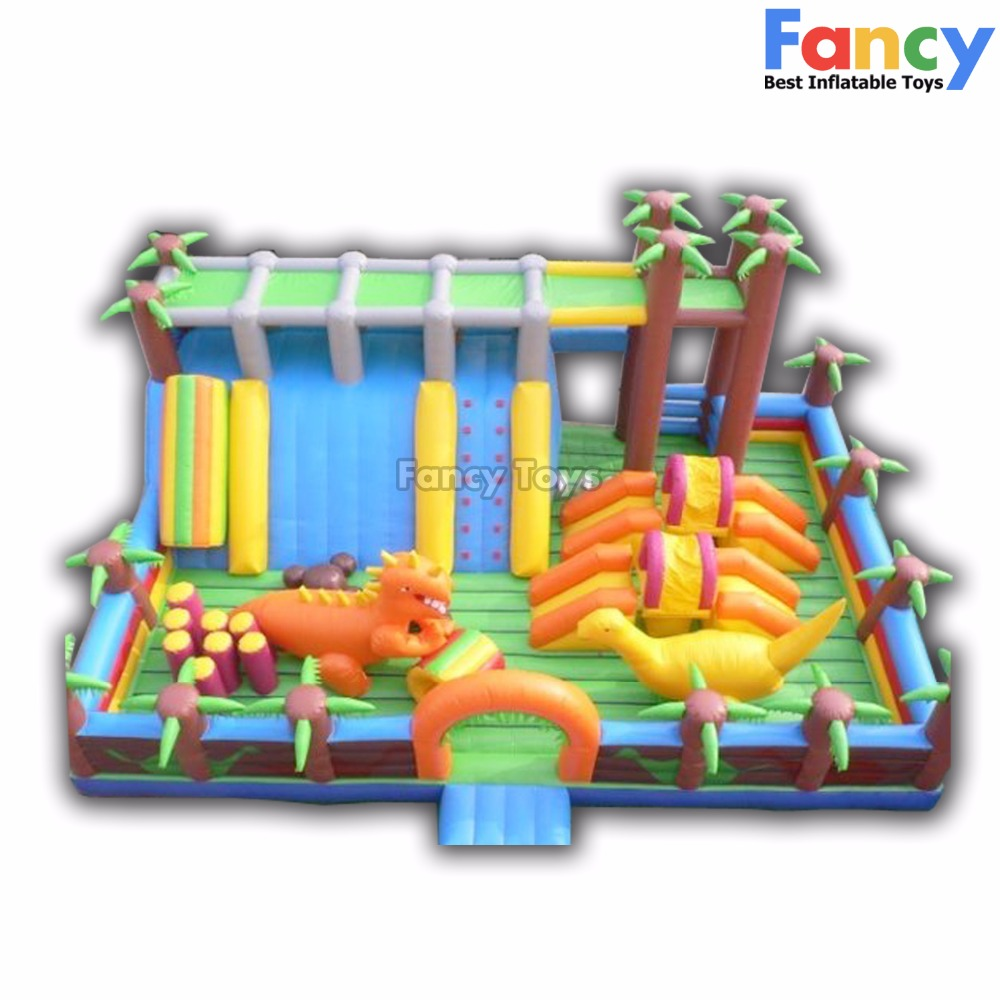 Amazing hot! inflatable fun city/giant inflatable amusement park for kids/big bounce city