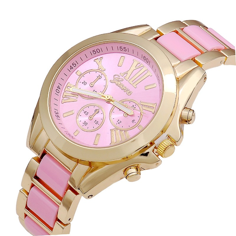 KEZZI Brand Women Watch Colorful Number Tonneau Quartz Wrist Watch
