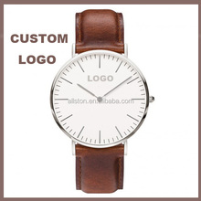 Hot Novelty Gent Stainless Steel Sports Watch with leather/nylon watch strap, 3 Hands and Date classic Function Watch