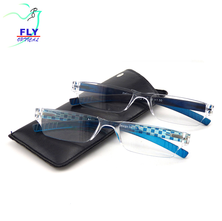 Cheap Wholesale Rimless Plastic Reading Glasses Manufacturer Optical Eyeglasses Frames