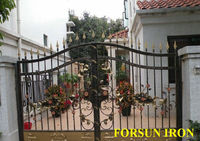 prefabricated wrought iron gate rosettes pictures prices