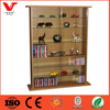Glass Collectable Display Cabinet Cd Dvd Storage Shelves For Sales