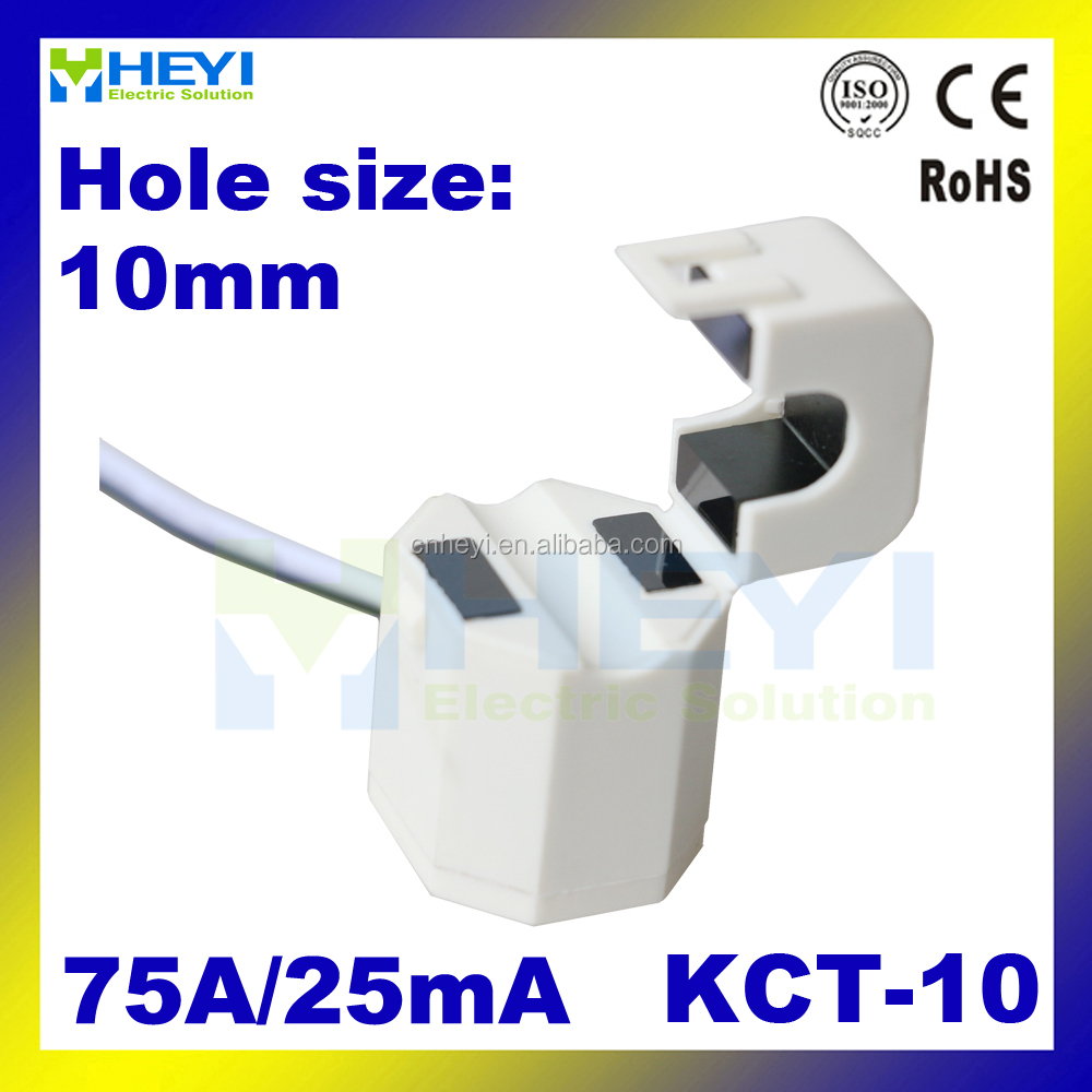 white Split Core Current Transformer Clamp on CT KCT-10 75A/25mA