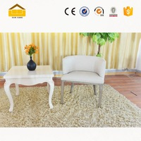 modern design wooden low back round lounge sofa chair