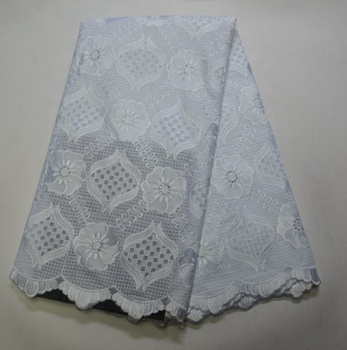 AG2729 African swiss lace with hole swiss cotton voile lace