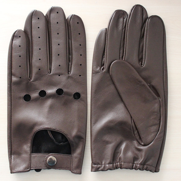 men wearing sexy fashion driving brown leather glove