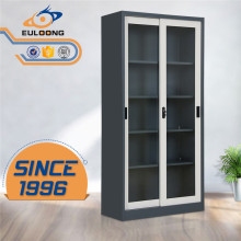 Hot Sale metal 2 sliding doors steel cupboard design with price