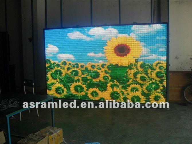 High definition TV effect P6 indoor full color advertising led display screen sign