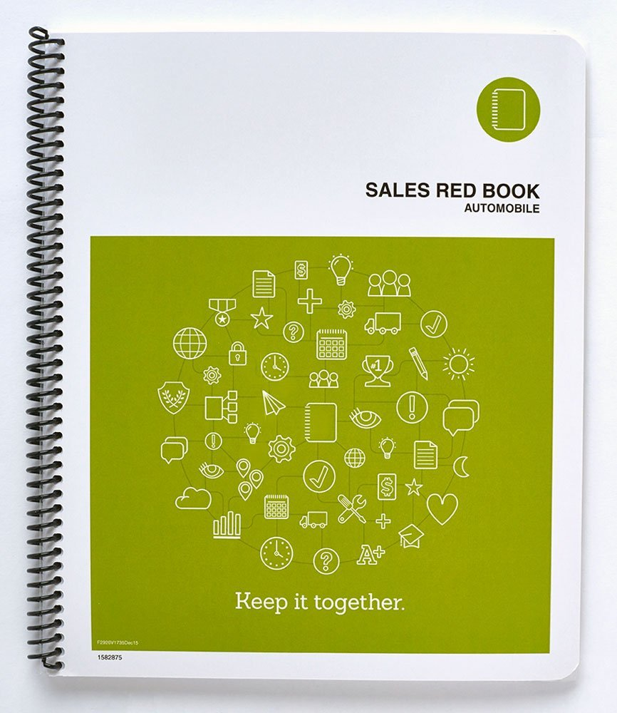 "The Manager's Red Book - Auto Sales goals and prospecting logbook, 8.5""x11"" monthly, 112 pages, 112 pages, 2 daily pages (F2926) (April 2017)"