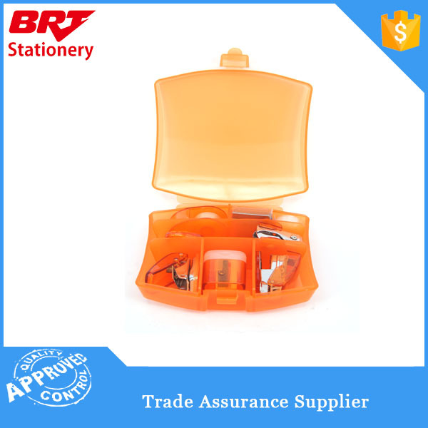Office mini stationery set with Plastic box for promotion