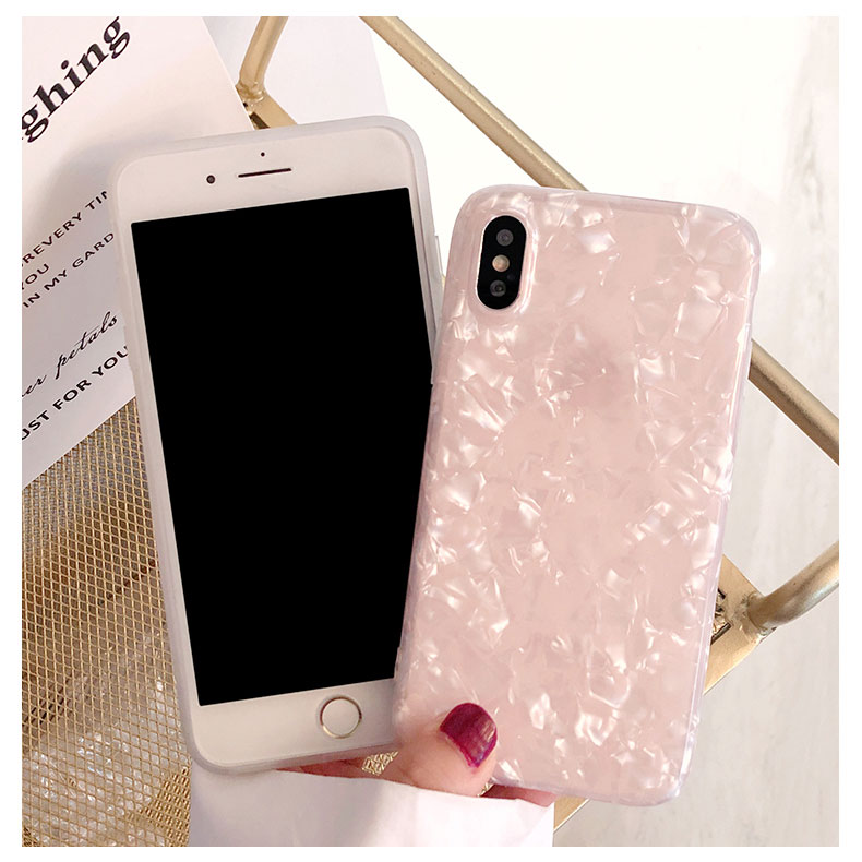 2019 New Arrivals Fancy Pink Shell Design IMD TPU Phone Case For iPhone X XR XS MAX