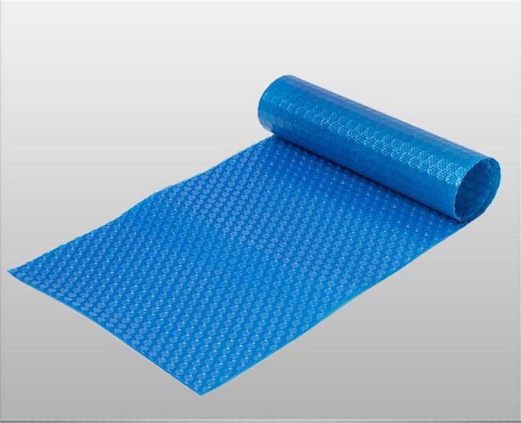 Aangepaste plastic blauwe zwembad bubble omslag thermische for Zwembad plastic