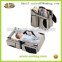 Best selling travel portable foldable lazy bed baby Diaper Bags from China ISO supplier