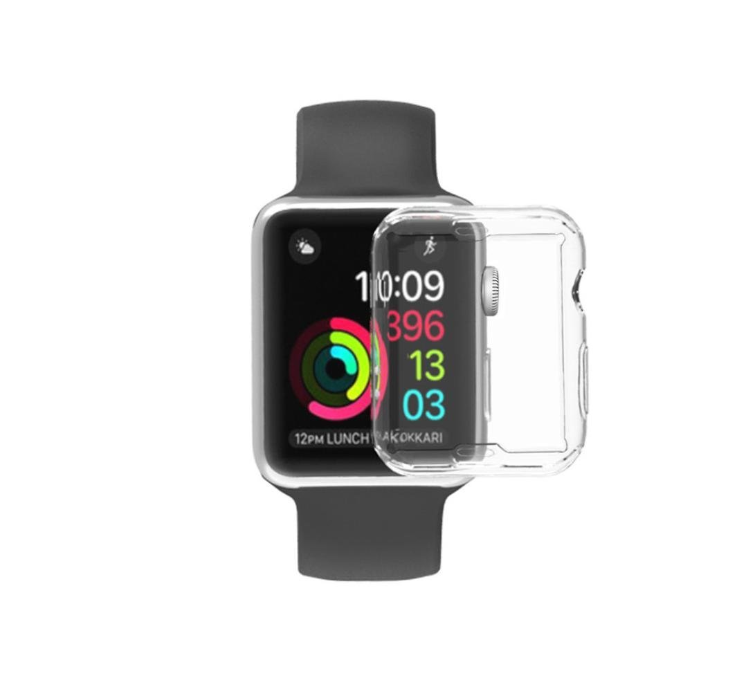 Apple Watch 2 Case,AutumnFall i Watch TPU Screen Protector All-around Protective Ultra-thin Cover for 2016 New Apple Watch series 2 (Apple Watch Series 2 38mm, Clear)