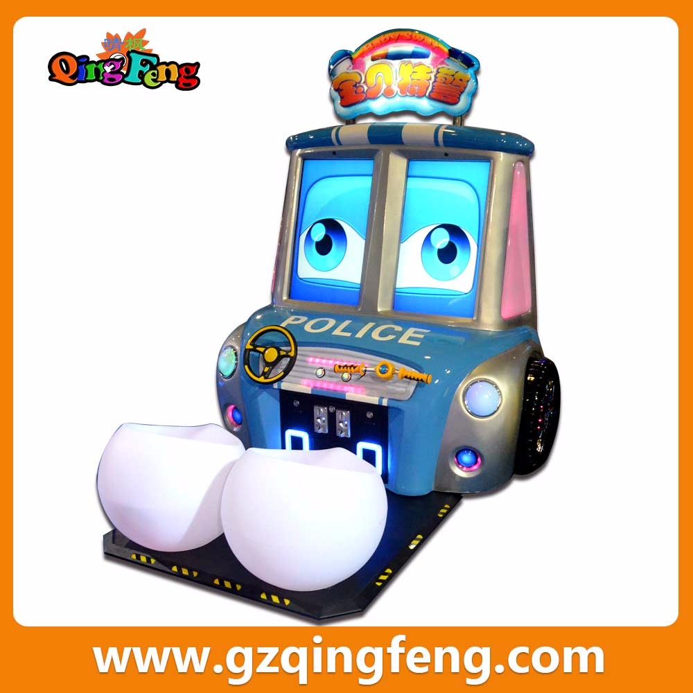 Thanksgiving day baby police two seats simulator car racing game machine