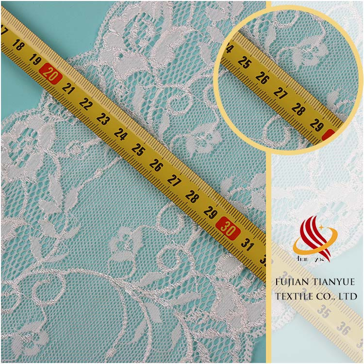 2017 new design bridal lace elastic trim with great quality and amazing price