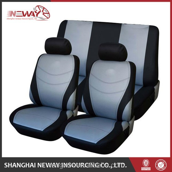 Promotional car seat covers sets leather made in China