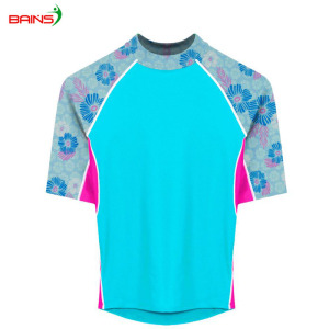 Sublimation printed custom logo rash guard bjj