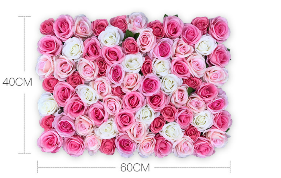 Kim cương tăng trắng 16 cm hàng rào hoa đặt trang trí phân vùng phụ kiện mô phỏng rose flower