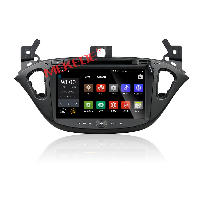Android 7.1 Car dvd player Car radio Multimedia For Opel Corsa 2015 2016 with GPS navi 2G RAM Quad Core 4G LTE AUX USB WIFI