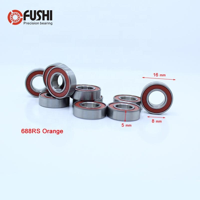 ORANGE 688-2RS Rubber Sealed Ball Bearing Bearings 688RS 10 Pcs 8x16x5 mm