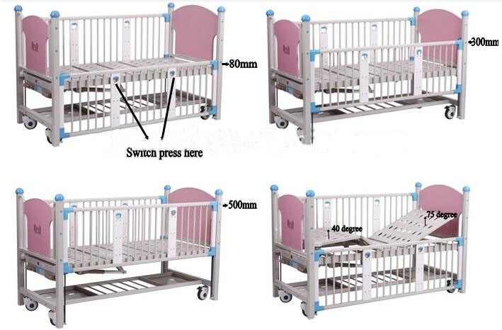 High quality manual infant hospital bed