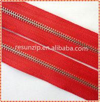 2014 fashion!!! RORO No.5 nickel brass long chain zipper