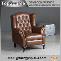 Country Style 100% Top Grain Leather Sofa Set New Designs 2015