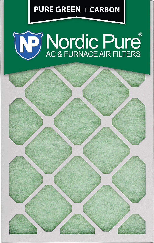"Nordic Pure 16x20x1PureGreen+C-3 AC Furnace Air Filters, 16 x 20 x 1"", Pure Green"
