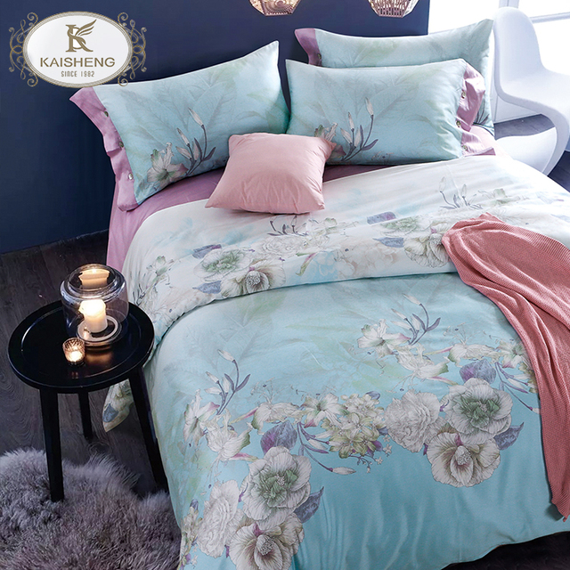 High Quality 100% Cotton Custom Size Printed Bed Linen