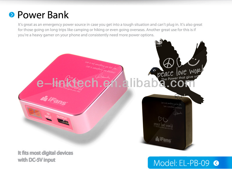 power bank for iPhone5s, best gift power bank 8400mah