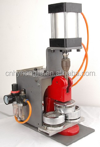 Pneumatic membuat tombol mesin lencana mesin press
