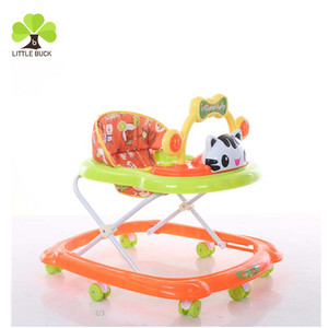 2017 China cheap price rolling children walker manufacturer 8 swivel round wheels baby walker to baby