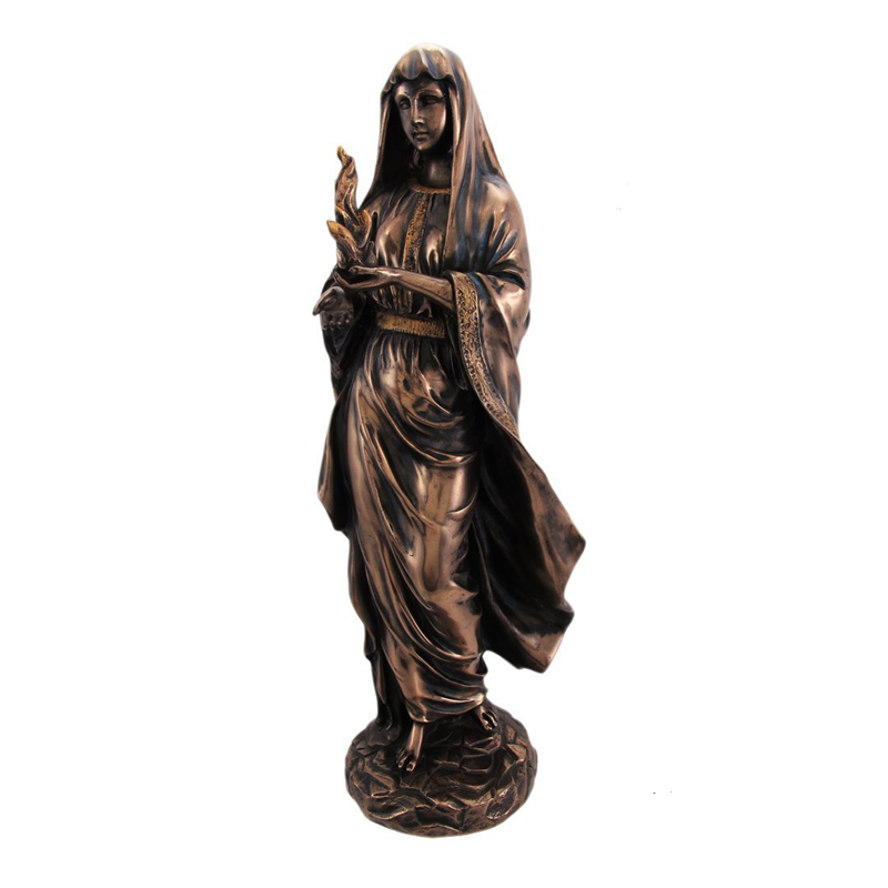 Hestia in Robes Grecian Goddess Resin Statue Figurine