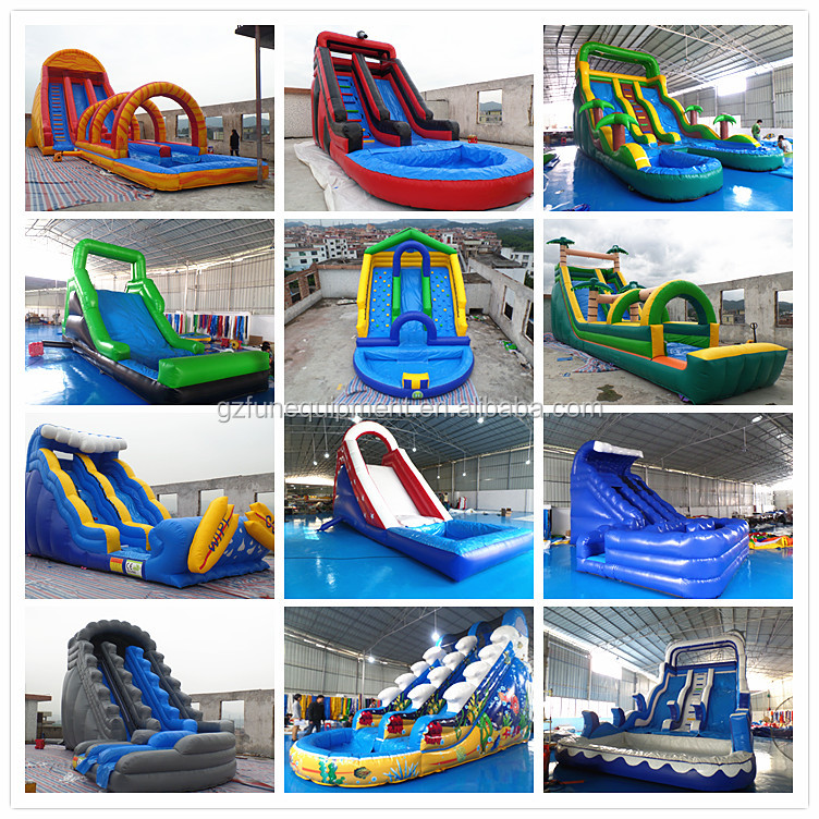 inflatable wet slide