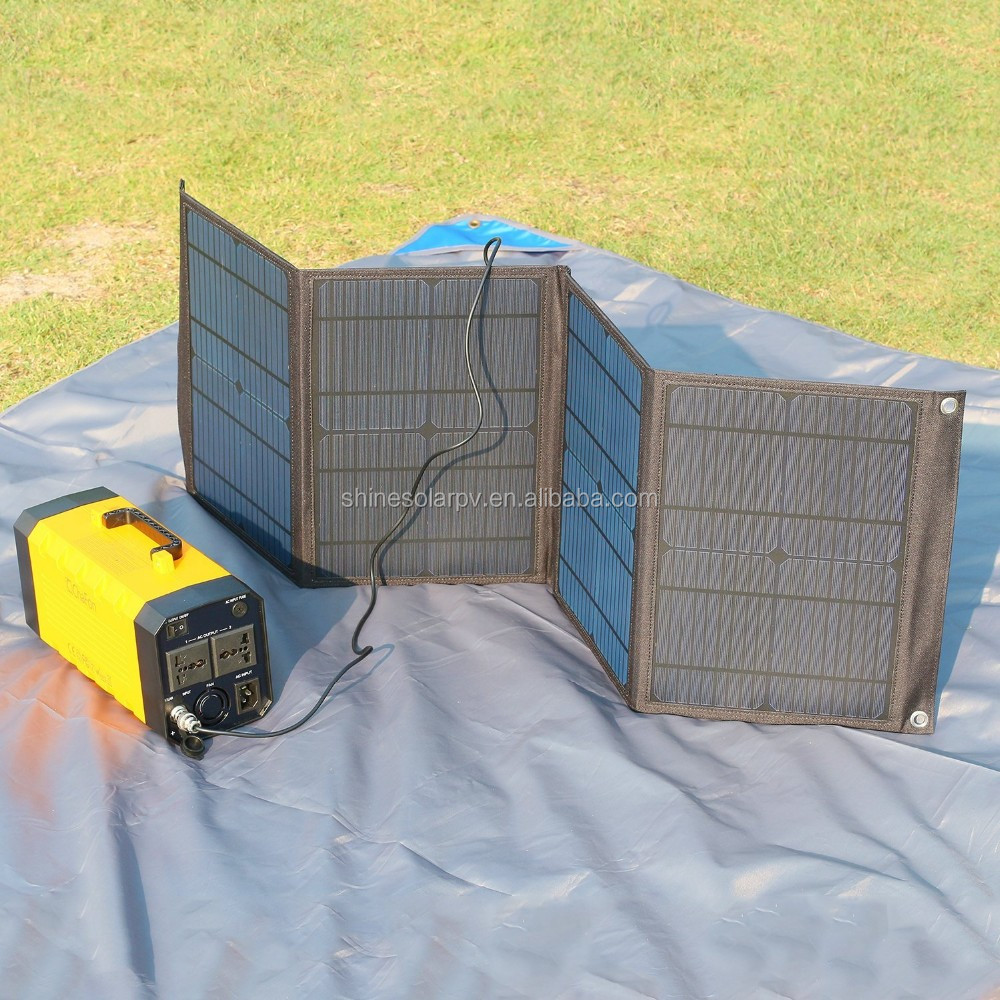 40w Fabric Folding Solar Panel Foldable Solar Charger