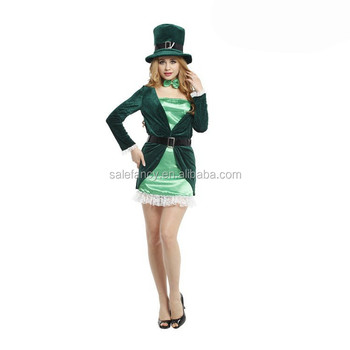 Plus Size Carnival Adult Leprechaun St Patricks Ireland Fancy Dress