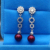 Fashionable personality 925 silver delicate red freshwater pearl earring female simple sterling silver pearl earring