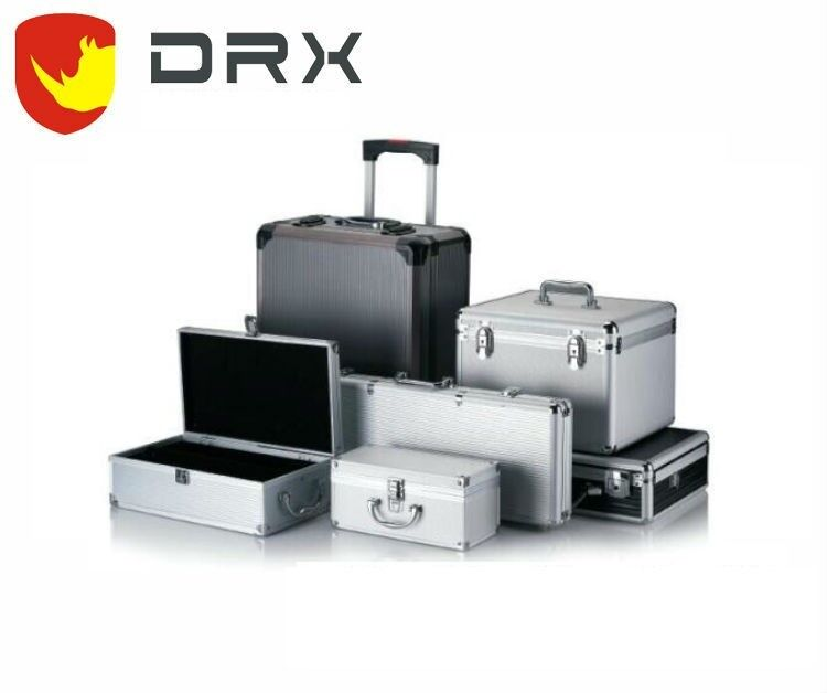 Customized aluminum hard carrying cases with metal lock
