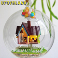 UTOYSLAND Miniature DIY Wooden UP The Movie Inspired 3D Toy Doll House Voice Control LED Light