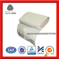 NO.1 China blanket factory supersoft 100% twill merino wool blanket, wool throw